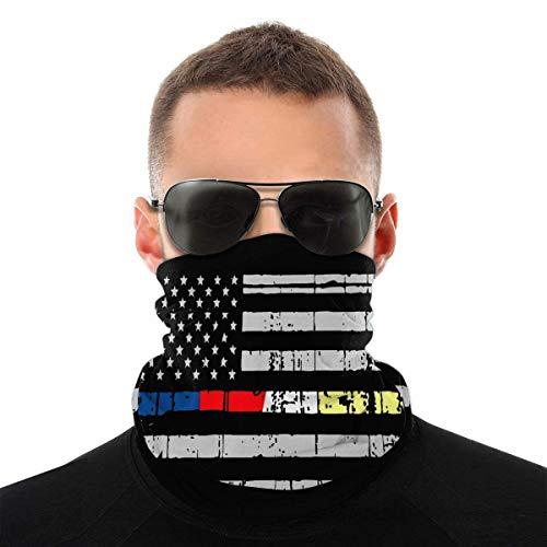 SUN Flower Flagge für Polizei, Feuerwehr, Rettungsdienst und Versand Männer Frauen Halswärmer Gesichtsschutz Bandanas Hut