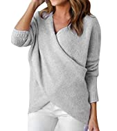 Package: 1 * V neck jumper. Size: UK S- XL. Please read the size chart in our picture gallery on the left side to find your perfect size. Main Material: Acrylic. Soft, comfortable, high elasticity.Keep you warm but fashion in autumn and winter. Featu...