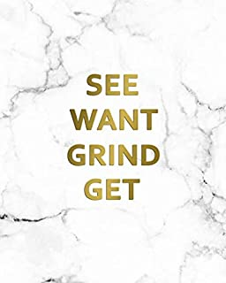 See Want Grind Get: 2020-2024 Marble & Gold Five Year Monthly Planner & Organizer | Motivational 5 Year Agenda With 60 Months Spread View Calendar with To-Do's, Inspirational Quotes, Vision Boards & Notes