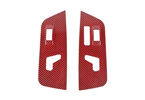 September Department Store AJUSTE PARA DODGE RAM 2010-2017 Coche Pantalla de ajuste de asiento eléctrico Cubierta de decotativa CUBIERTA DE TIENDO DE TIENDO ABS Accesorios interiores de fibra de carbo
