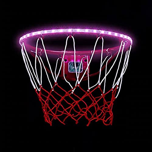 Led Basketball Hoop Light Solar Powered Basketball Rim Ring Light Change 16 Colors String Lights Helps You Shoot Hoops at Night for Kids Adults