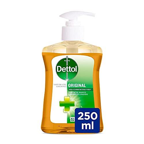 Dettol Jabón de Manos Higienizante Original Suave con la Piel – 250 ml