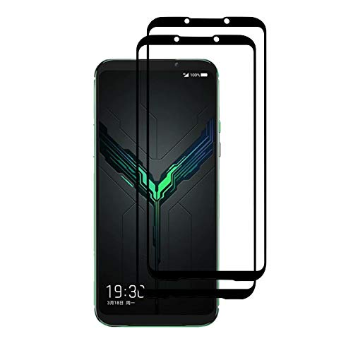 SUP Xiaomi Black Shark 2 Tempered Glass Screen Protector, Premium 3D Curved Edge Guard Film, Edge to Edge Full Screen Cover, work with most case (Black Edge)