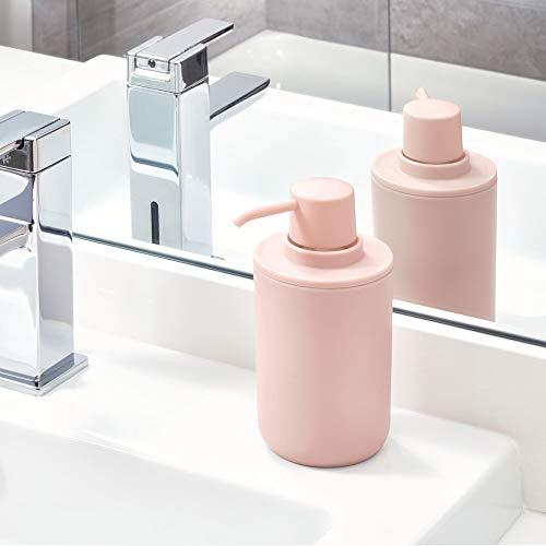 iDesign Dispensador de jabón, dosificador de jabón redondo en ...