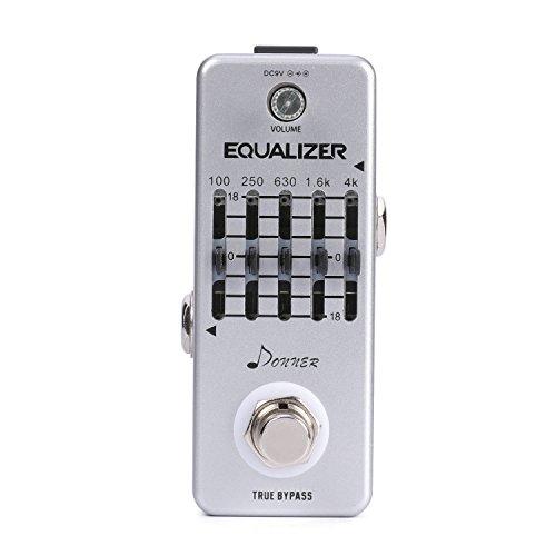 Donner Equalizer Pedal 5-Band Grafik EQ Gitarre Effektpedal