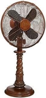 DecoBREEZE Oscillating Table Fan 3 Speed Air Circulator Fan, 10 In, Raleigh