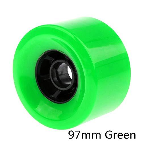Rueda F-Jiujin 1 unid SHR78A PU Ruedas de Skate 83mm 90mm 97mm Ruedas de Skate eléctricas Ruedas de Longboard Cinturones de Engranajes Resistentes de Alto Nivel (Color : 97mm Green)
