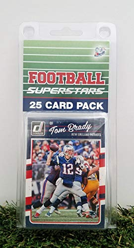 New England Patriots- (25) Card Pack NFL Football Different Patriot Superstars Starter Kit! Comes in Souvenir Case! Great Mix of Modern & Vintage Players for The Super Patriots Fan! by 3bros