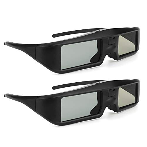 Docooler 3D Aktive Shutter Gläser 2 Stücke G06-BT Virtual Reality Gläser Bluetooth Signal besonders kompatibel mit LG/Sony/Panasonic/Sharp/Toshiba/Mitsubishi/Philips/Samsung 3D TV Smart TV