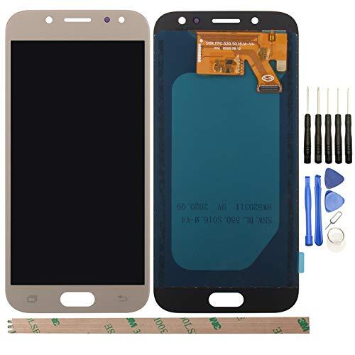 YHX-OU 5,2 pulgadas para Samsung Galaxy J5 2017 J530 SM-J530F de reparación y sustitución de pantalla LCD + digitalizador de pantalla táctil con herramientas incluidas (dorado)