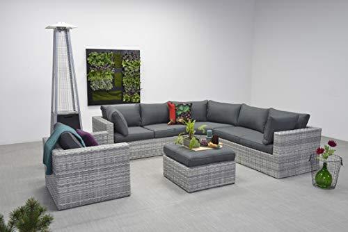 Garden Impressions Menorca - Sofá de Esquina (ratán sintético, Incluye sillón Adicional y cojín Impermeable)