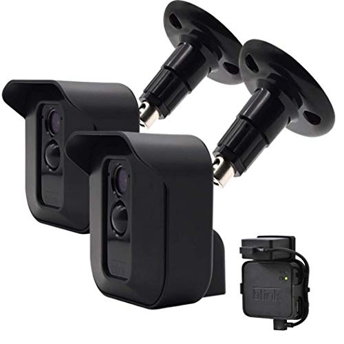 Blink XT XT2 Camera Wall Mount Bracket, Weather Proof 360° Protective Plastic Housing Cover and Adjustable Wall Mount Bracket for Blink XT XT2 Indoor/Outdoor Home Security Camera System (2Pack)