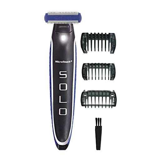 MicroTouch Solo – Elektrischer Rasierer mit neuer, verbesserter Klingenhalterung & Aufstecktechnik der Klingenaufsätze – Barttrimmer und Körper Haartrimmer | Das Original aus dem TV