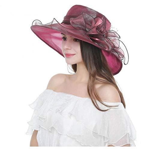 AMOYER Organza vestido Iglesia Derby de Kentucky Tea Party Cap Fascinator Sun boda Sombreros