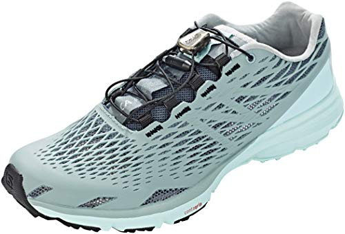 Salomon Women's XA Amphib Athletic Water Shoes, Stormy Weather/Lead/Canal Blue, 8.5