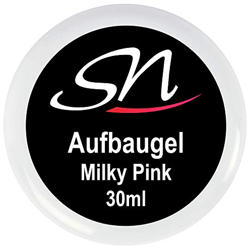 SN Aufbaugel milchig pink rose für Nägel Babyboomer Builder Gel milky rosa UV Gel Nagelgel 30ml