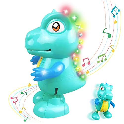 KBKDJM Musical Dancing Dinosaur Baby Toy, Electric Dancing and Singing Toys with Lights and Sounds for Toddlers Age 1 2 3 Birthday Gift