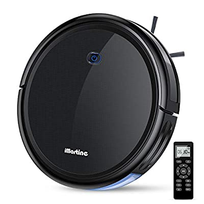 Robot Vacuum Cleaner, iMartine 1600Pa Strong Suction Robotic Vacuum Cleaner, Super-Thin Quiet, Up to 120mins Runtime Automatic Self-Charging Robot Vacuum for Pet Hair Hard Floor to Medium-Pile