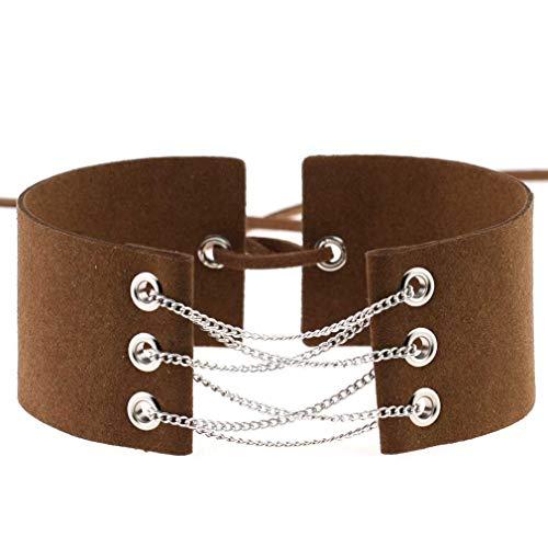 Collar de cadena simple fresco de la muchacha de la manera Collar de la joyería del terciopelo regalo NO2