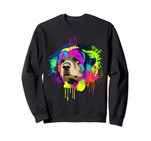 Splash Art Leonberger Dueño De Un Perro Regalo Perros Sudadera