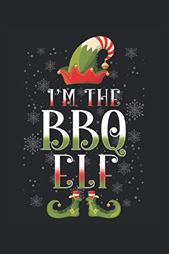 Notebook: Nice Notebook with BBQ Christmas Elf Cover | Lined | 6