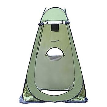 Tente de douche - Tente d'intimité pop-up - Étanche - Portable - Pour le camping, les toilettes - Pour l'extérieur, la pêche, le bain, le rangement - Vert