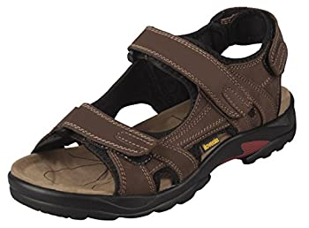 iloveSIA Mens Leather Sandals Athletic Outdoor Shoes Hiking Sandals Brown US Size 12