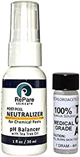 TCA 100% (4ml)- Trichloroacetic Acid & Neutralizer (1oz) - Skin Tags, Warts, Moles