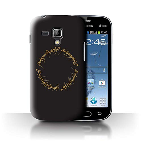 eSwish Carcasa/Funda Dura para el Samsung Galaxy Trend Plus/S7580 / Serie: LOTR Inspirado Fantasía - El Único Anillo
