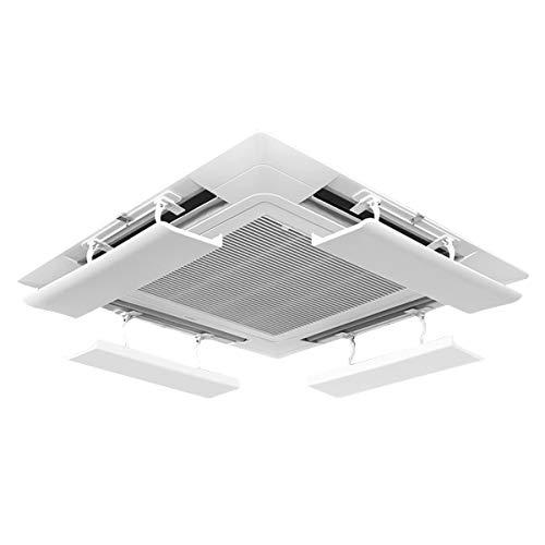 LAFULU(ラフル) エアコン風よけカバー エアコンルーバー 風よけ 風避け 冷房 暖房 風向きを自由に調整 風の直撃防止 壁に穴あけ不要 多機種対応 取り付け簡単(ホワイト 2枚入り)