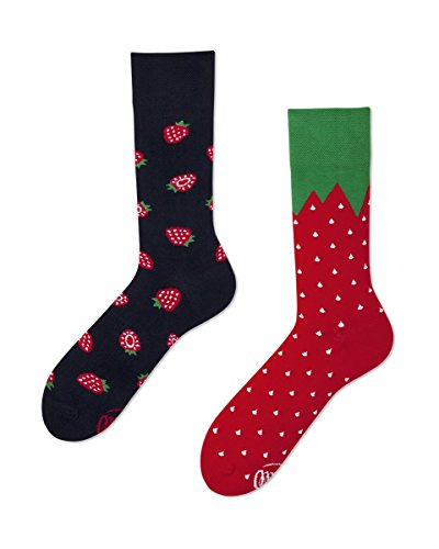 Verrückte Socken Many Mornings damen und herren crazy socks Fruit Erdbeeren PRINT 39/42