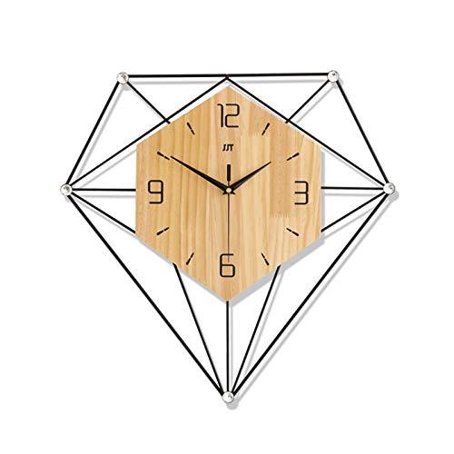 VSander Relojes Moderno Minimalista Sala De Estar Reloj De Pared Europeo Creativo De Madera Maciza Hogar Mesa Colgante Dormitorio Decoración Reloj Mute