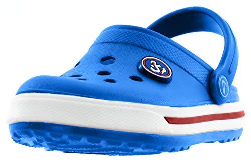 Beppi Kinder Clogs - Kinderschuhe Kleinkinder Schuhe Hellblau Gr. 40
