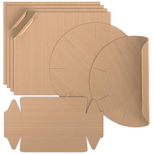 Arendo - Dauerbackfolie im 7er Set – wiederverwendbares Premium Backpapier – hitzebeständig - antihaftbeschichtet - spülmaschinenfest – 4 x eckig, 2 x Springform rund, 1x Kastenform - BPA-frei
