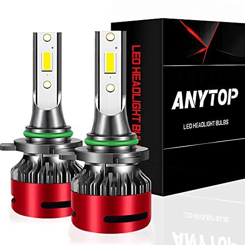 ANYTOP 9006/HB4 LED Headlight Bulbs Low Beam, 6000K 12000 Lumens Diamond White Headlamp Conversion Kit for Car Truck SUV IP67 Waterproof, 2 Pack
