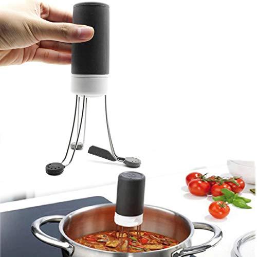 Mescolatore automatico a 3 velocità portatile in acciaio inox automatico a mani libere Robot alimentare salsa miscelatore automatico, per mescolare yogurt, salsa e zuppa in padella