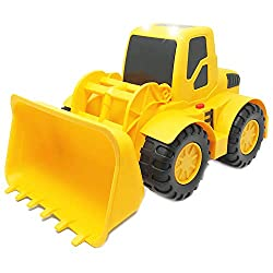 Toys that Begin with the Letter L include this fun bulldozer.