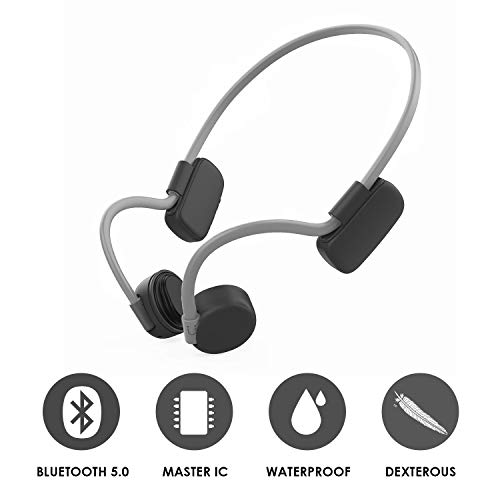 Beengeleiding Koptelefoon Draadloze open oortelefoon Bluetooth 5.0 met aanraakknop Sport Headset IP56 Waterdichte hardloop-oortelefoon