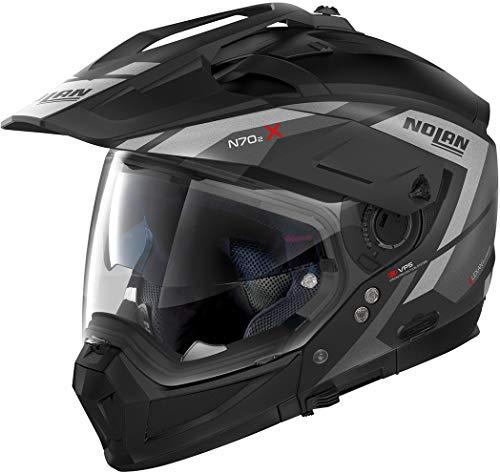 Nolan N70-2 X Grandes Alpes N-Com Helm Schwarz Matt/Silber XL (62)