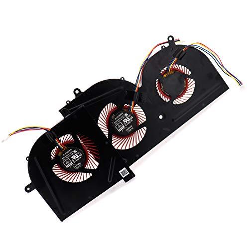 Deal4GO GPU Cooling Fan w/CPU Fan Replacement for MSi GS63 GS63VR GS73VR GS62 MS-16K2 MS-16K3 MS-16K4 MS-16K5 MS-17B1 MS-17B2 BS5005HS-U2F1 BS5005HS-U2L1