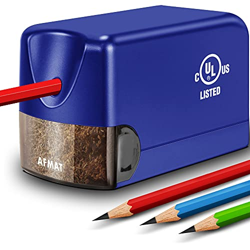 Electric Pencil Sharpener, Heavy Duty Pencil Sharpener Plug in, Classroom Pencil Sharpener for 6.5-8mm No.2 and Colored Pencils, 10000 Sharpening Times w/Upgraded Helical Blade
