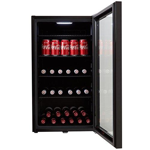 Cookology CBC98BK Undercounter Drinks Fridge | Glass Door Wine & Beverage Cooler