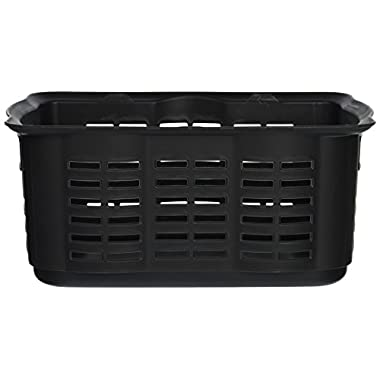 Rubbermaid Stack n Sort Basket, Medium, Black, 10 Quart (1794733)