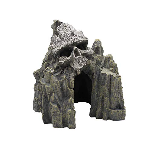 EHC Skull Mountain Aquarium Ornament Fish Tank