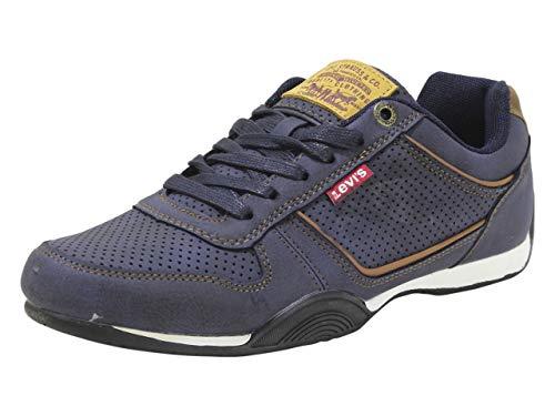 Levi's Shoes - Bandera encerada UL NB, Azul (Azul marino/Marrón claro), 42.5 EU