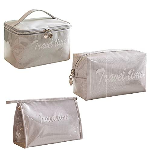 LtyTz Bolsa de viaje cosmética Bolsa de cosméticos de señora Bolsa de almacenamiento de cosméticos impermeable bolsa de cosméticos 1 pieza portátil bolsa de cepillo cosmético rosa, gris, styel-3,
