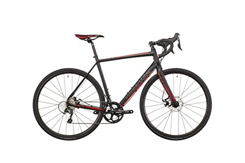 Kona Esatto Disc matt black/silver/dark red Rahmengröße 52 cm 2016 Rennrad