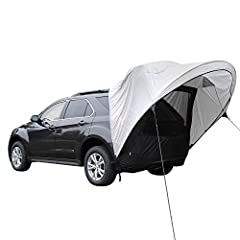 Universal fit canopy shade fits mid-to-full size CUVs, SUVs, and minivans Get sheltered from the sun with over 2 feet of awning Mesh screen keeps bugs out of your vehicle Integrated storm flap gives you more privacy and protection from weather Comes ...