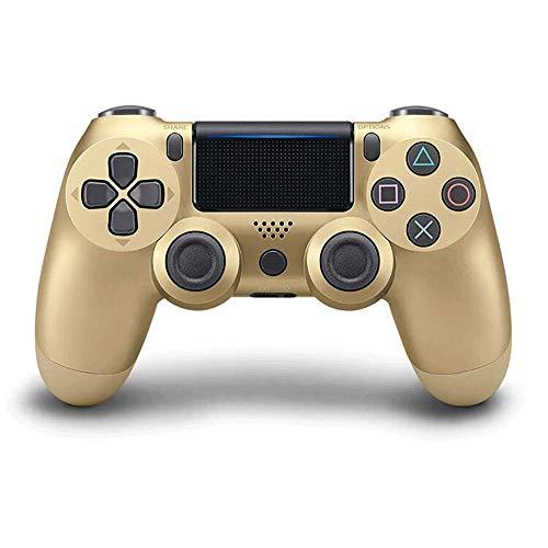 PS4-Controller PS4 / PC-Gamecontroller Vibrationsstreifenlicht Bluetooth Wireless Controller (Golden)