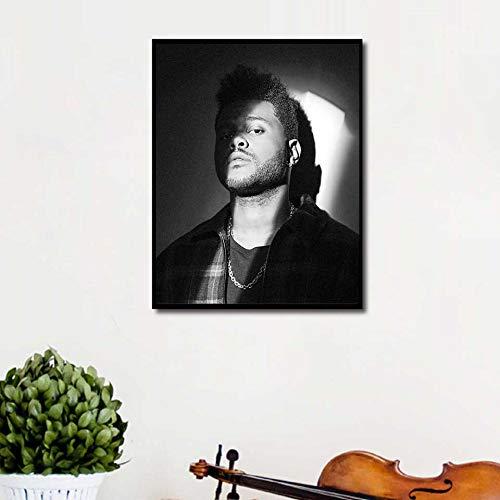 KWzEQ Wochenendplakat Rap Musik Sänger gedruckt Wandkunst Leinwand Bild Wohnzimmer Wohnkultur,Rahmenlose Malerei,60X80cm